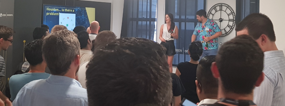 KPMG's Lead DevOps Engineer Ariane Gadd addressing the crowd at our recent tech meetup in our London office